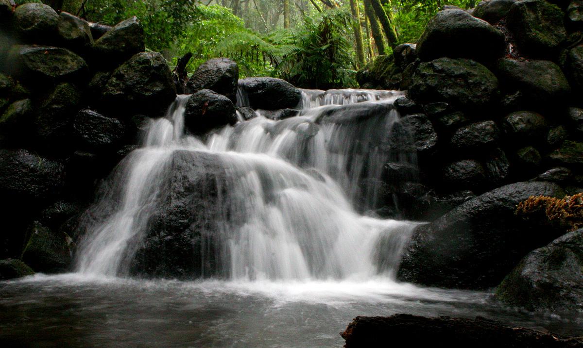 Cascada de agua en El Cedro